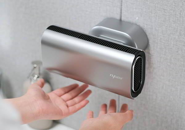 Nyuair Household Touchless Hand Dryer with Self-Cleaning UV Lamp