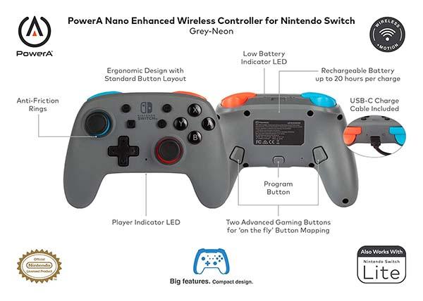 PowerA Nano Enhanced Wireless Controller for Nintendo Switch and Switch Lite