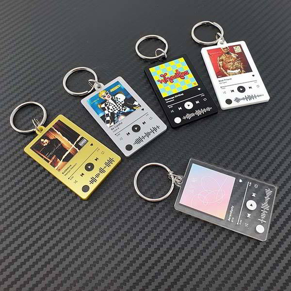 Spotify-Inspired Personalized Keychain Based on Your Favorite Music