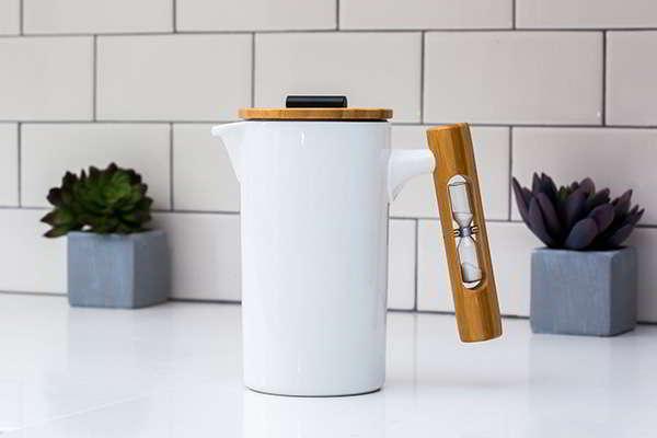 StramperPress Handmade French Press Coffee Maker with Hourglass