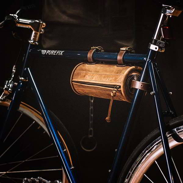 The Handmade Personalized Leather Bicycle Bag for Essential Items
