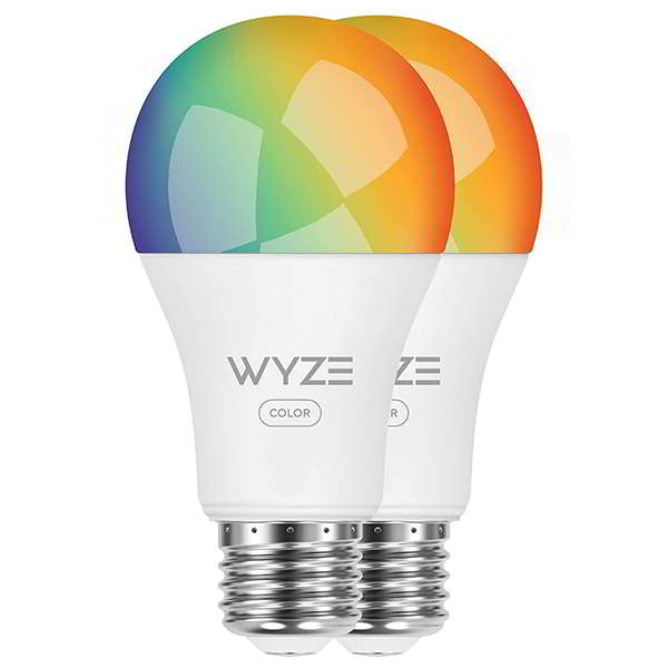Wyze WLPA19C Smart RGB LED Bulb Compatible with Alexa