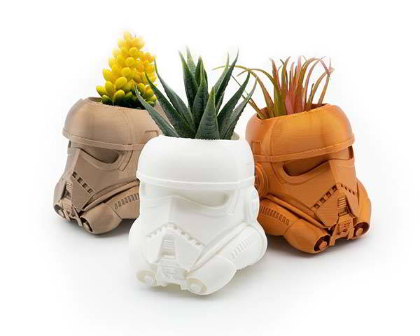 3D Printed Star Wars Stormtrooper Succulent Planter