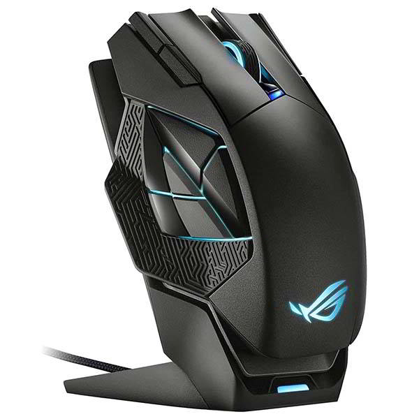 ASUS ROG Spatha X Wireless Gaming Mouse with Magnetic Charging Stand