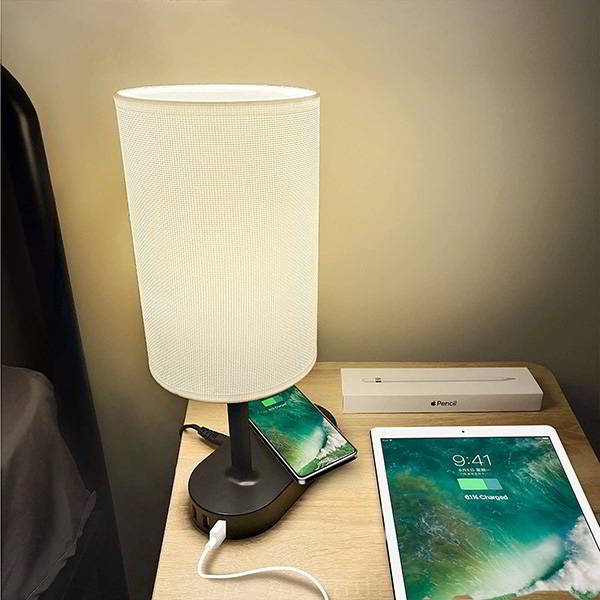 COZOO LED Desk Lamp with Wireless Charging Pad and USB Charging Dock