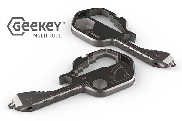 Geekey Stainless Steel Multi-Tool for Keychain
