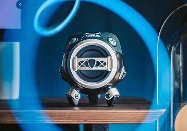 GravaStar Venus Mecha-Style Portable Bluetooth Speaker with IPX5 Water Resistance