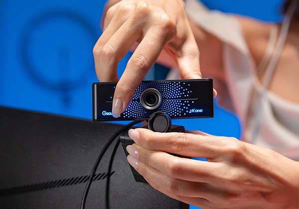 Gsou K20 2K HD Webcam with Built-in Bluetooth
