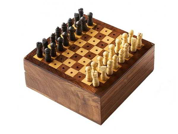 Hand Crafted Travel Wooden Chess Set