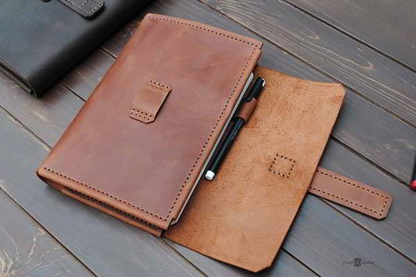 Handmade Leather Sketchbook Cover with Optional Personalization
