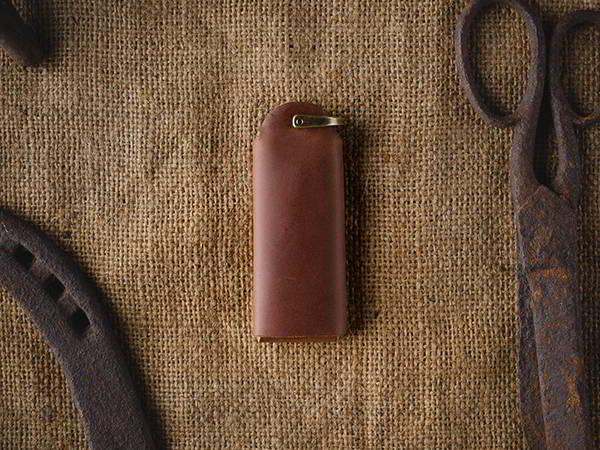 Handmade Minimal Leather Key Fob