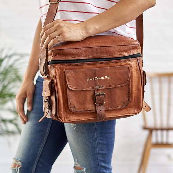 Handmade Personalized Leather Camera Bag