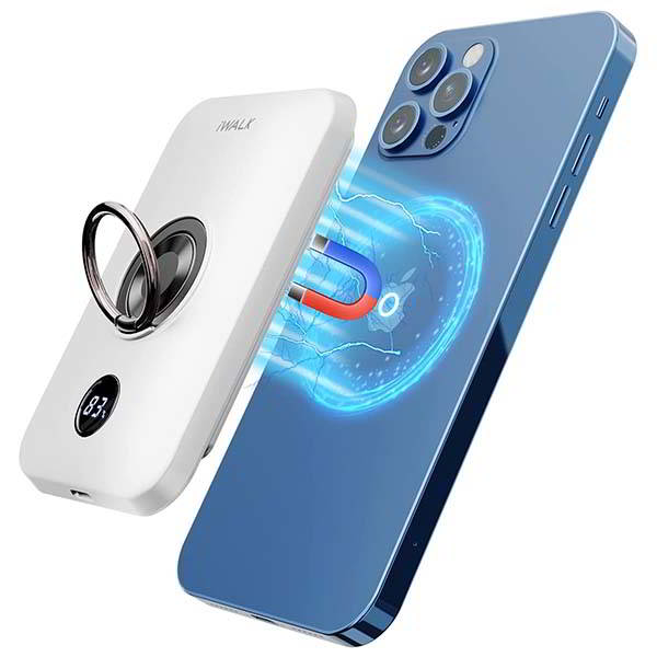 iWalk Magnetic Wireless Power Bank with Phone Grip