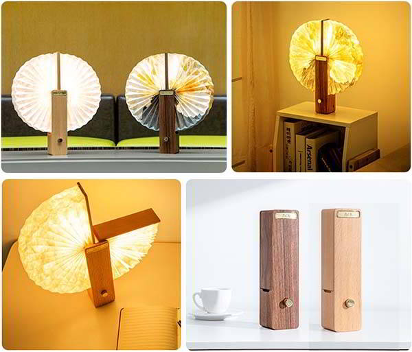 OMLAMP Portable LED Paper Lamp Inspired by Origami