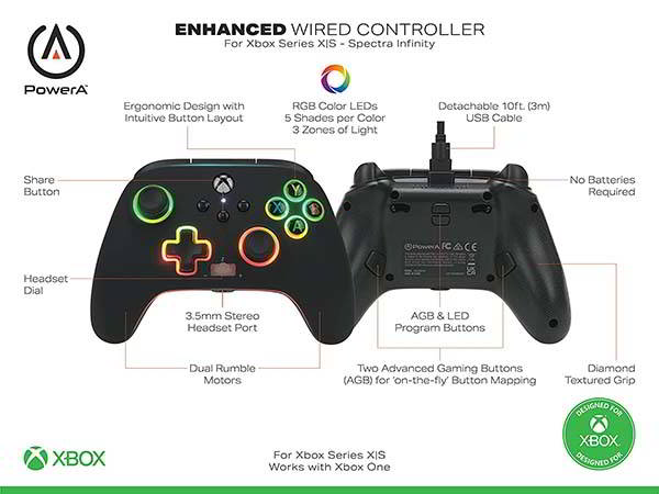 PowerA Spectra Infinity Enhanced Wired Controller for Xbox Series X|S