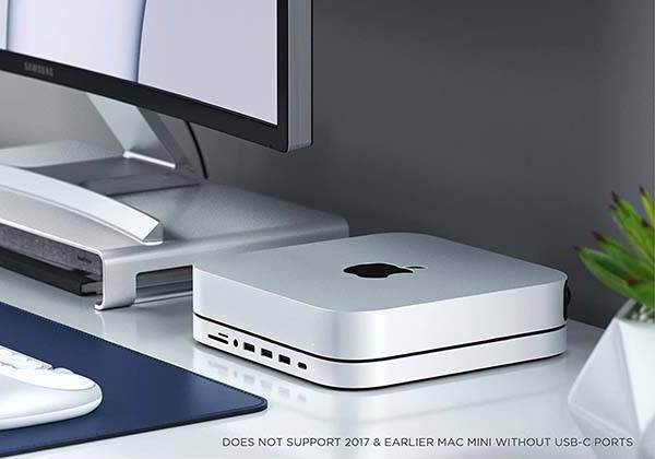 Satechi Aluminum USB-C Hub with SSD Enclosure for Mac Mini