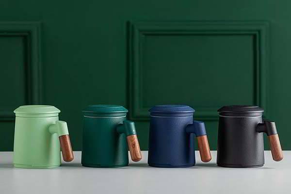 ZENS Ceramic Tea Mug with Removable Infuser