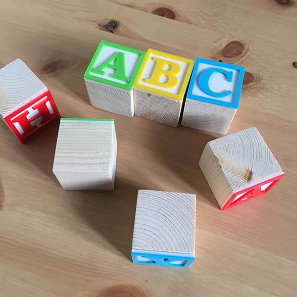3D Printed Toy Story Building Blocks with Personalization