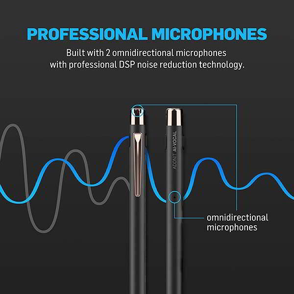 Adonit AI-Vocal Active Stylus with Voice Recorder