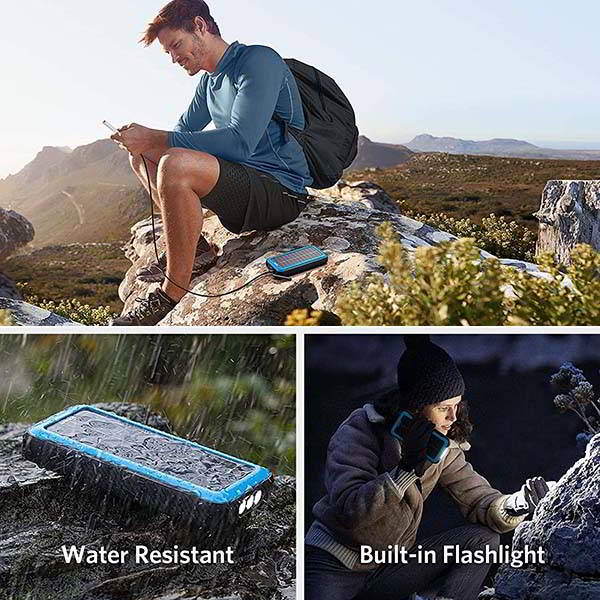 Anker PowerCore Solar Power Bank with LED Flashlight