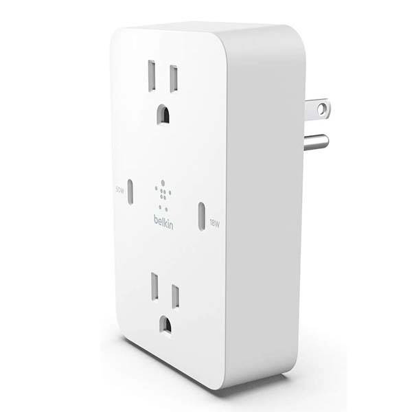 Belkin Wall Mount Power Strip with GaN USB-C Charger