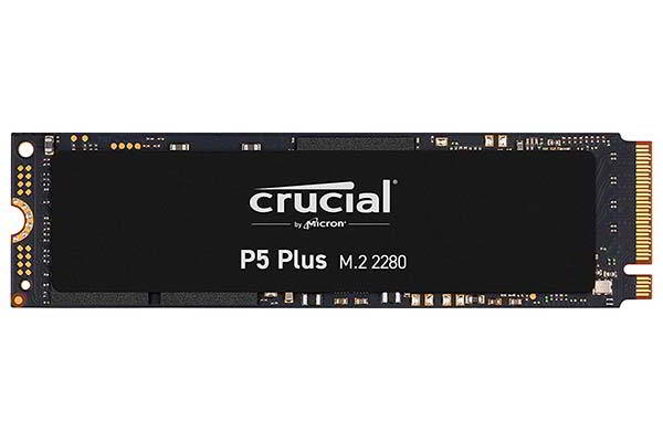 Crucial P5 Plus PCIe 4.0 NVMe SSD with Micron Advanced 3D NAND