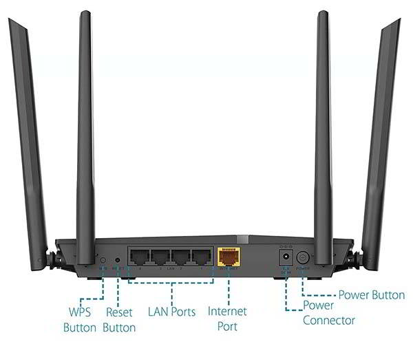 D-Link DIR-1260 AC1200 WiFi Router with Mesh Smart Roaming