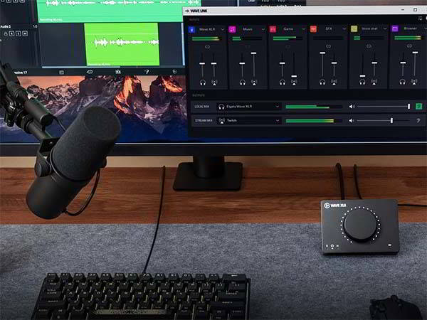 Elgato Wave XLR Mic Interface with Switchable Low-Cut Filters