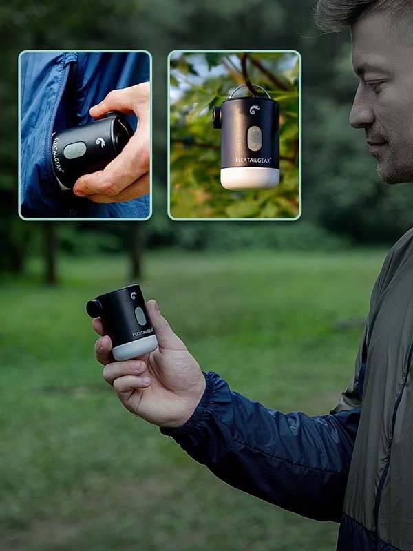 Flextailgear Max Pump2 Pro Portable Air Pump with Camping Lantern