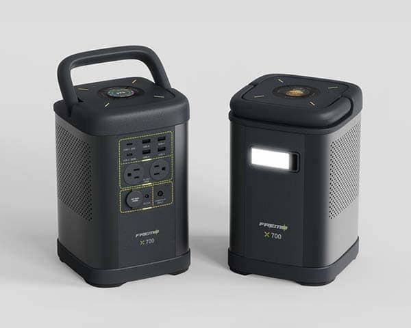 Fremo X700 LiFePO4 Portable Power Station with Detachable LED Flashlight