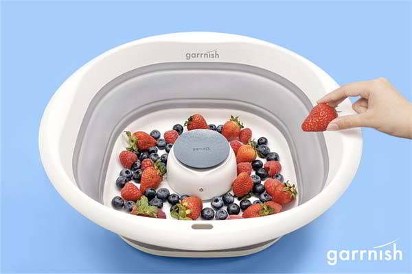 Garrnish Vegetable & Fruit Washer Removes 90% of Common Pesticides