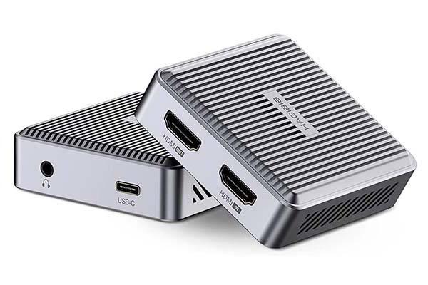 Hagibis Portable HDMI Video Capture Card with 3.5mm Audio Port
