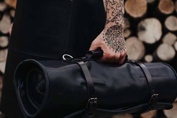 Handmade Leather Grill Tool Storage Bag
