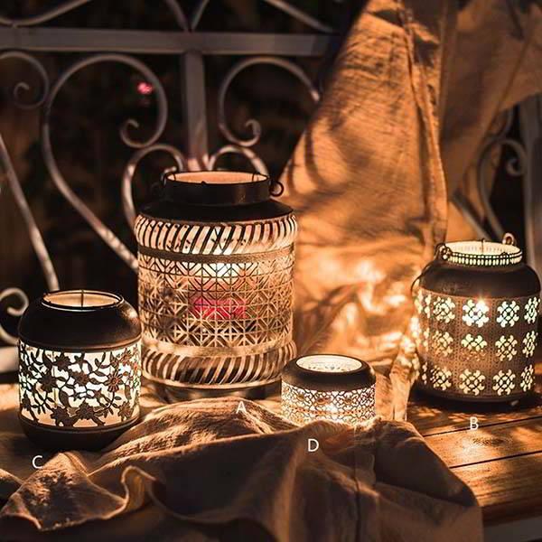 Handmade Metal Lantern Candle Holder