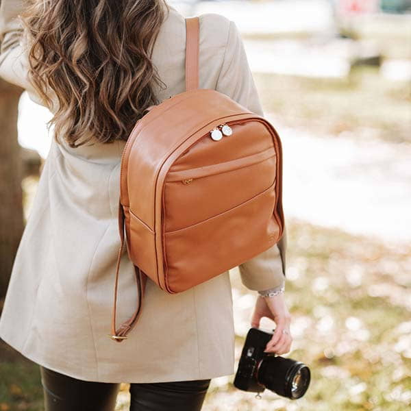 Handmade Mini Tog Leather Camera Bag with Removable Velcro Dividers