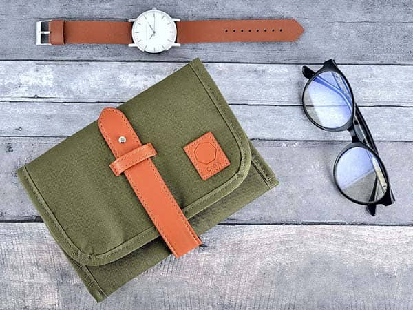 Handmade Travel Organizer Bag for Electronic Accessories