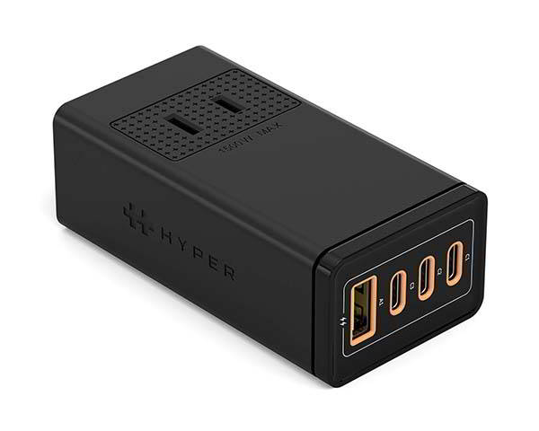 HyperJuice Stackable 100W GaN USB-C Charger with AC Outlet