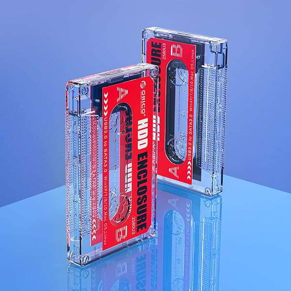 ORICO Cassette Tape Inspired Hard Drive Enclosure for 2.5-Inch HDD and SSD