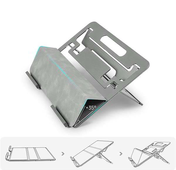Parblo PR112 Aluminum Laptop and Tablet Stand for Drawing, Typing and Viewing