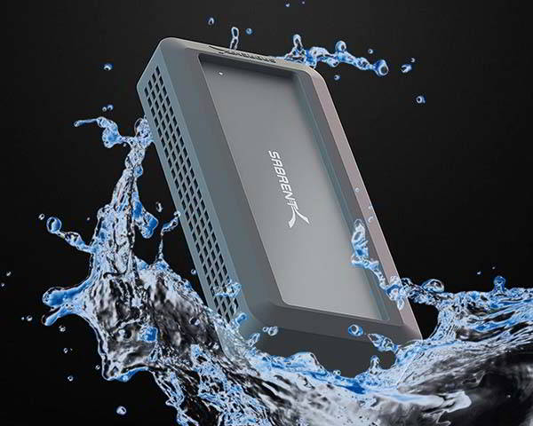 Sabrent Rocket Nano Rugged Waterproof External SSD with Bumper Guard