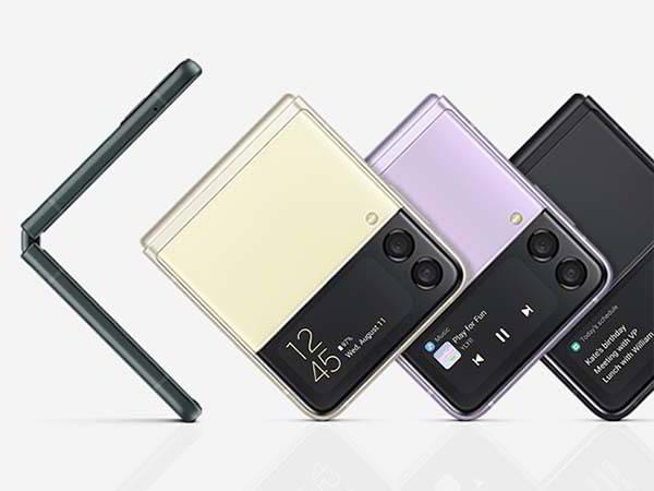Samsung Galaxy Z Flip3 5G with a Horizontally Foldable Display