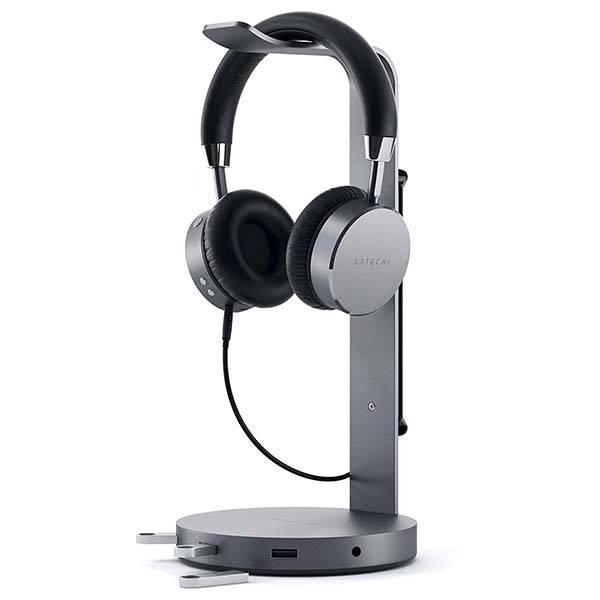 Satechi Aluminum USB Headphone Stand with 3.5mm Audio Jack