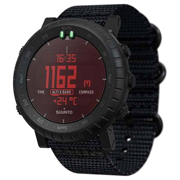 Suunto Core Alpha Stealth Outdoor Watch with Altimeter, Barometer & Compass