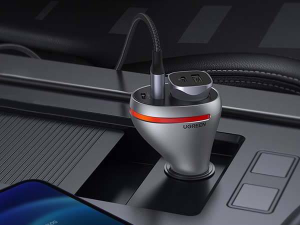 UGREEN USB/ USB-C Car Charger with Cigarette Lighter Socket