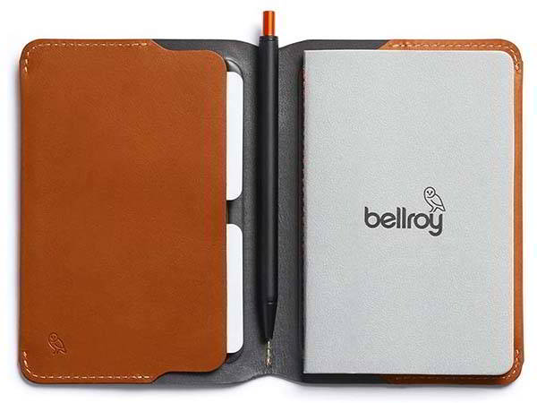 Bellroy Leather Notebook Cover with Magnetic Closure