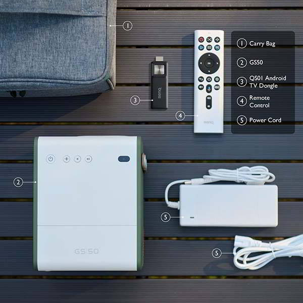 BenQ GS50 Portable Smart Projector with Android TV