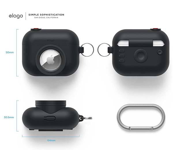 elago Snapshot AirPods Pro Case with AirTag Holder