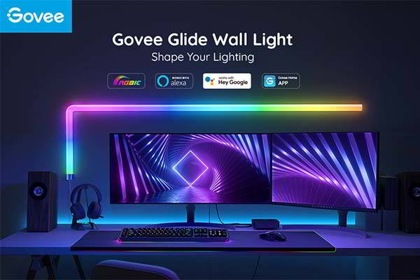 Govee Glide RGBIC Smart LED Wall Light Set Compatible with Alexa and Google Assistant