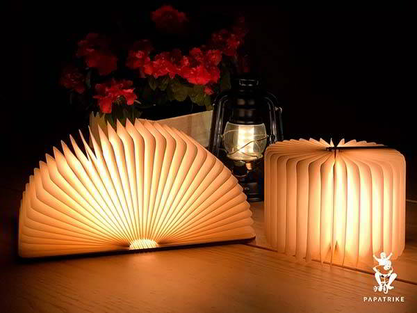 Handmade Book-Style LED Night Lamp with Personalization