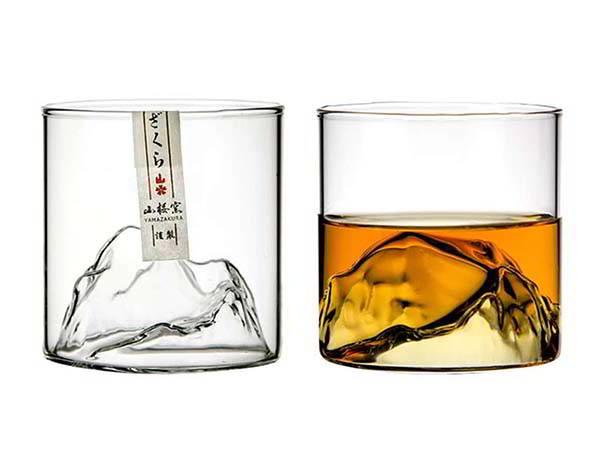 Handmade Mount Fuji Whiskey Glass